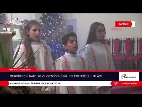 Mersin'deki Katolik Ve Ortodoks Kiliseleri Noel'i Kutladı   04.01.2019