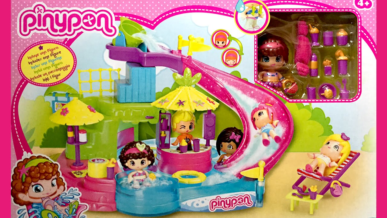 pinypon aqua park adventures fun pinypon swimming pool