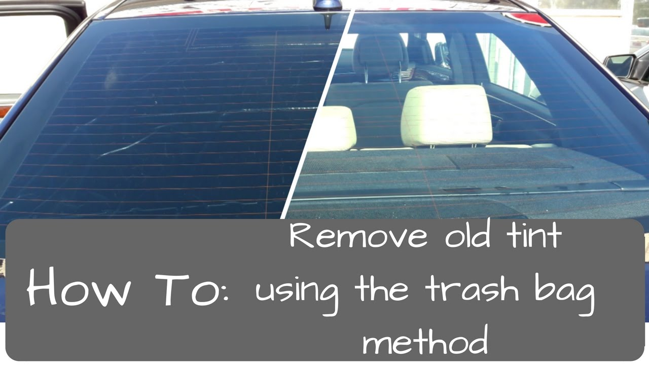 How To Get Tint Glue Off Car Windows