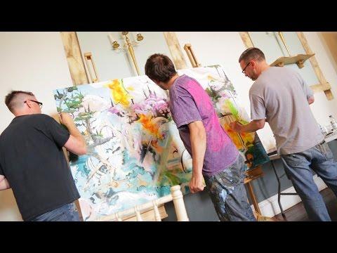 Tunisian Collaborative Painting UK