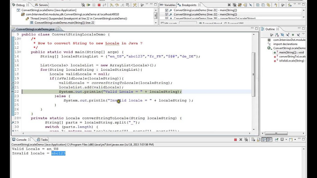 HOW TO CONVERT STRING TO NEW LOCALE JAVA DEMO