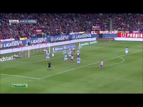 Atletico Madrid 4 : 0 Real Sociedad,  2nd February, 2014