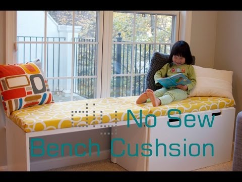 diy-no-sew-bench-cushion-seat/-window-seat-cushion-without-sewing