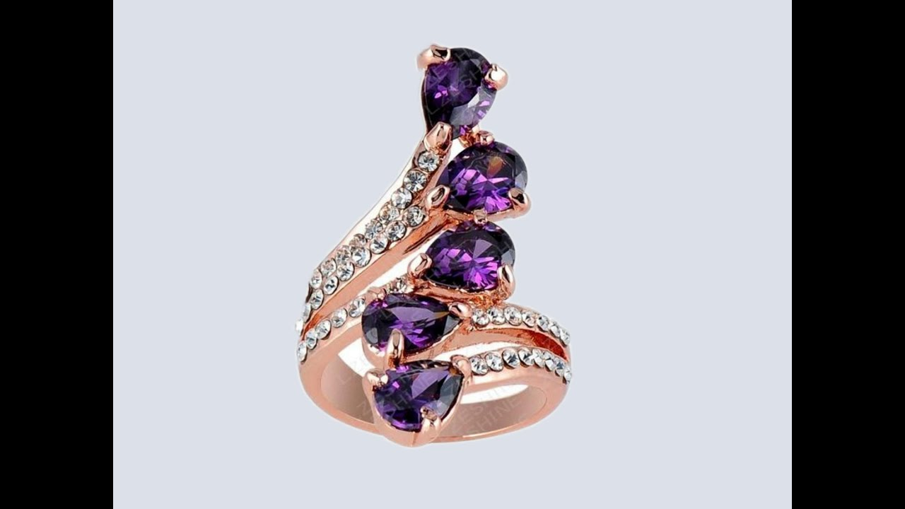 красивые золотые кольца с камнями