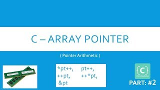 25. C - Array pointer. (Pointer Arithmetic). Learn C Programming Language. 2018-2019, [ENGLISH] HD