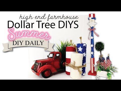 Dollar Tree High End DIYs | Summer DIY DAILY EP2 | FARMHOUSE DIYS