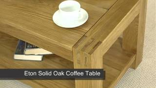Eton Solid Oak Coffee Table