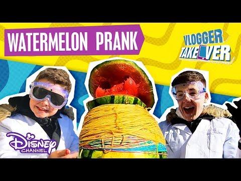 TheNewAdamb99   EXPLODING WATERMELON TEST ⚠️  Disney Channel UK