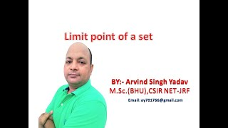 limit point of a set in metric space(definition), lecture-14, real analysis