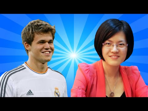 Magnus Carlsen vs Hou Yifan - World Chess Champion vs Women'
