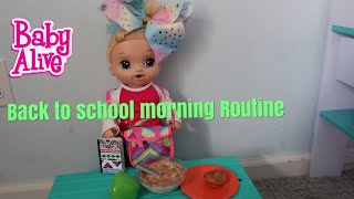 BABY ALIVE Lulus Back To School Morning Routine baby alive videos
