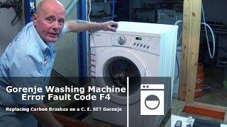 Gorenje пральна машина не крутиться помилка Ф4 код несправності