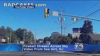 Fireball caught streaking across northeast united states