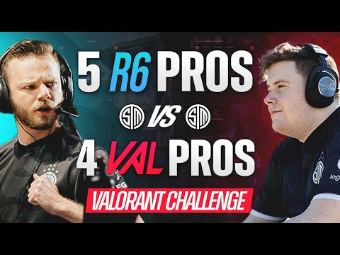 VALORANT vs R6: 4v5 - What Happens When The BEST RAINBOW SIX TEAM Faces 4 TOP RADIANT VALORANT PROS?