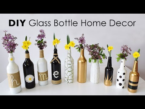 DIY Glass Bottle Home Decor – 3 Simple Ideas