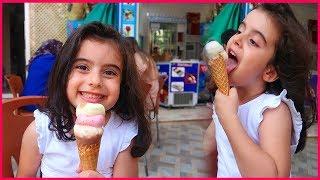 Rüya'nın En Sevdiği Şey Dondurma Yemeye Gittik | Kız Çocuk Videosu