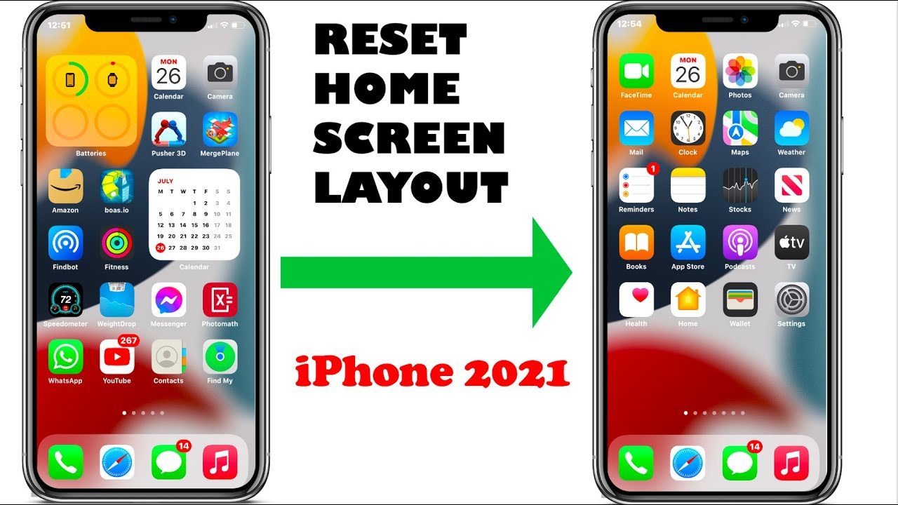 How to RESET Home Screen Layout on iPhone 22