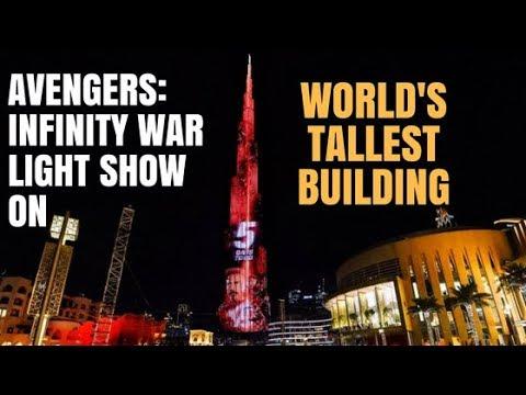AVENGERS INFINITY WAR LIGHT SHOW ON WORLD's TALLEST BUILDING I Burj Khalifa I Dubai Vlogs #20