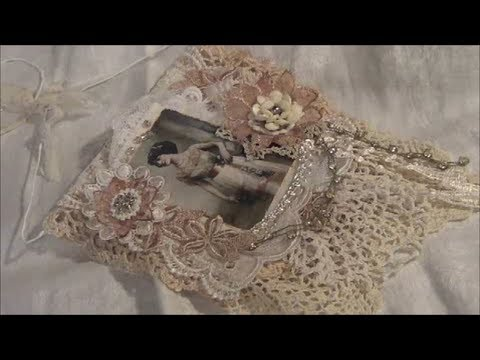 Vintage Shabby Chic Lace Collage Wall Hanging