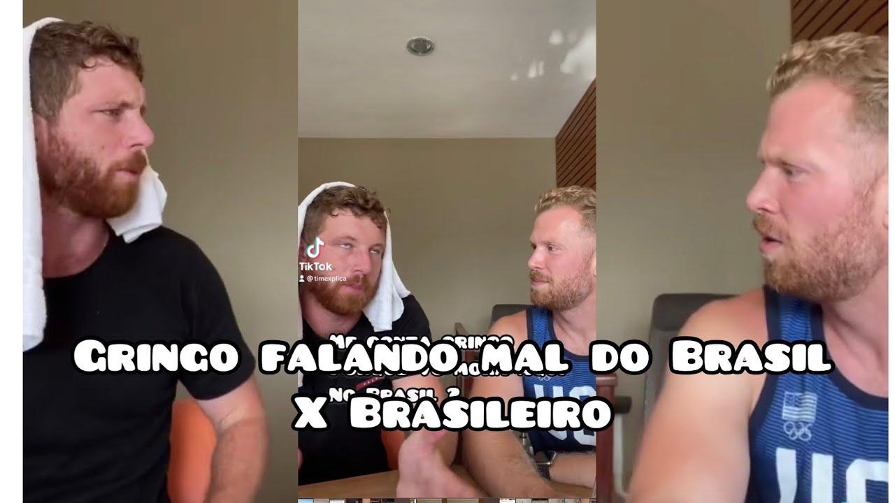 Quando Um GRINGO fala mal do Brasil em frente dos Brasileiros #shorts