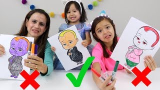 DESAFIO COLORINDO COM 3 CORES- PARTE 2!!!! (3 MARKER CHALLENGE!! ) MUNDO DA VIVI