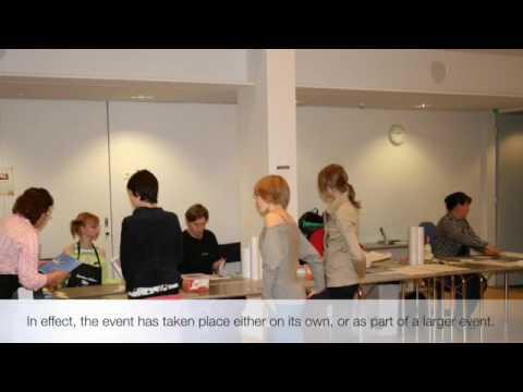 Schoolbook covering event at Joensuu Regional Library, Finland