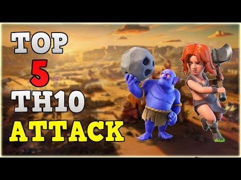 TOP 5 TH10 Attack Strategy 2017 ◆ 3 Star MAX Town Hall 10 War Base ◆ Clash of Clans