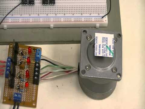 Easy Driver with Arduino and Unipolar Stepper Motor - YouTube