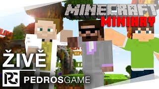 Pedro a GEJMR hrají Minecraft minihry (záznam LS)