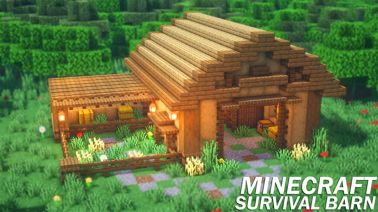 How To Build A Barn In Minecraft Survival