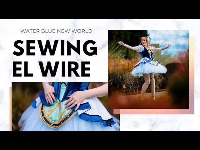 Sewing with El Wire - Water Blue New World Hanamaru Part 3