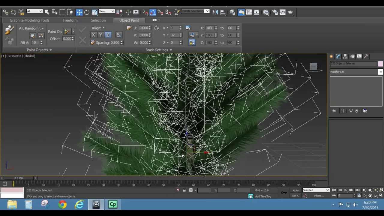 how to get trees in vray