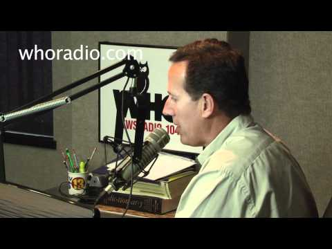 Sen. Santorum on WHO Radio in Iowa