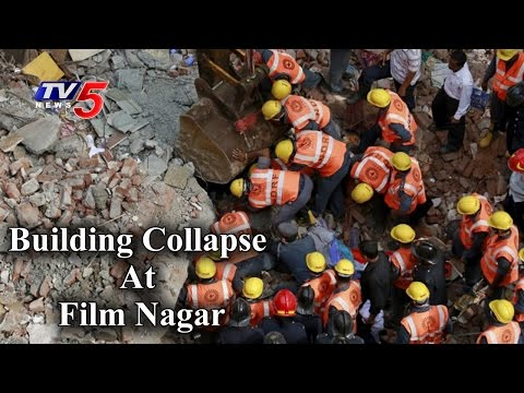 Talasani, GHMC Mayor & Others Visits Site Of Collapsed Building At Film Nagar | TV5 News