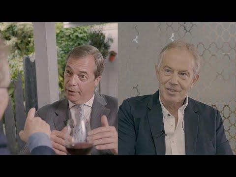 """Nigel Farage e Tony Blair: Brexit ou """"não ao Brexit"""", eis a questão"""