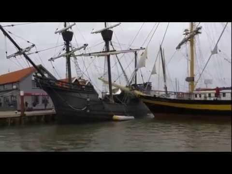 Bulgarian 'Royal Helena' Crashes into Docked Spanish 'Nao Victoria'