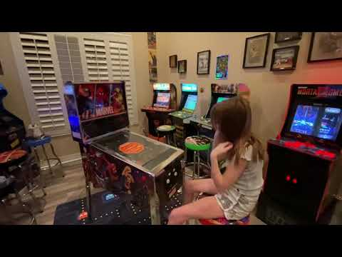 Arcade1up Marvel Pinball screen film peel and first power up! from Kelsalls Arcade