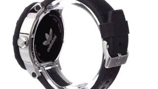adidas men s adh2998 amsterdam stainless steel watch with black leather band