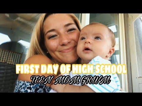 First day of senior year GRWM  TEEN MOM EDITION