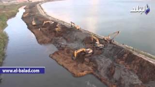 بالفيديو والصور.. ننشر بدء أعمال حفر توسعة بحيرة المطار بالإسكندرية