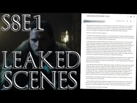 Season 8 Episode 1 Leaked Outline ! | Game of Thrones Season 8 Episode 1