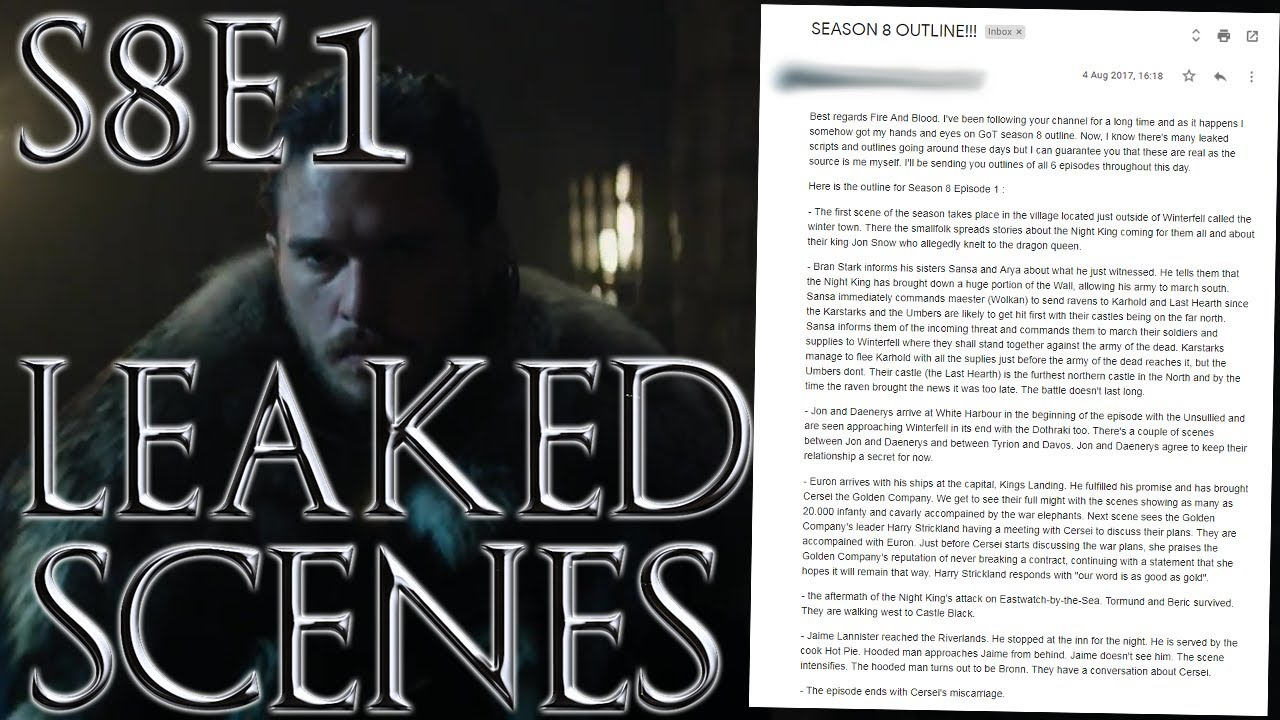 Season 8 Episode 1 Leaked Outline ! | Game of Thrones Season 8 Episode 1