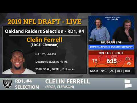 Oakland Raiders Select Clelin Ferrell From Clemson With Pick #4 In 1st Round of 2019 NFL Draft