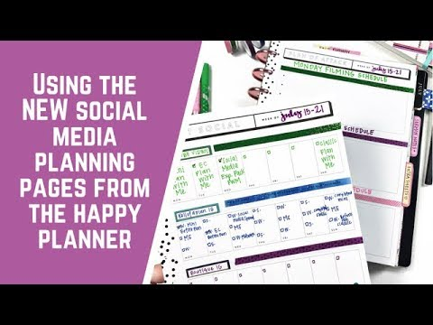 Using the NEW Social Media Planning Pages from The Happy Planner