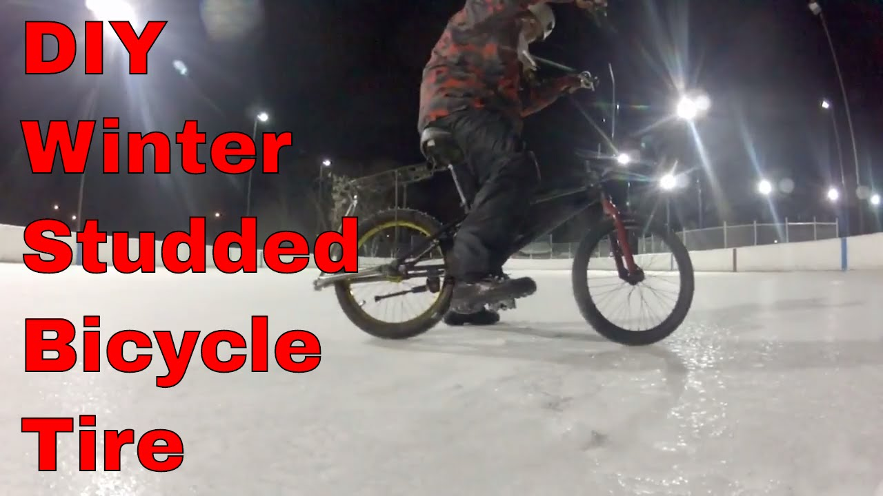 Diy Winter Studded Bicycle Tire Youtube