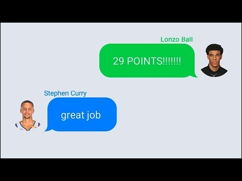 Download Youtube: Stephen Curry Texting Lonzo Ball After 29 Point Performance In Lakers vs Suns