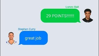 Stephen Curry Texting Lonzo Ball After 29 Point Performance In Lakers vs Suns