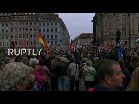 LIVE: PEGIDA rallies in Dresden the day after German Federal Election
