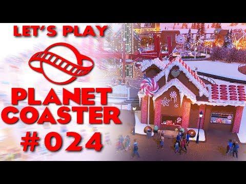 Planet Coaster Deutsch #24 Weihnachtliche Läden Planet Coaster German Deutsch Gameplay