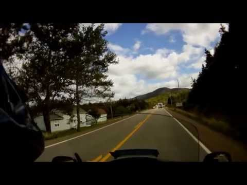 Motorcycle ride, Cabot Trail, Cape Breton Island, NS, Canada.